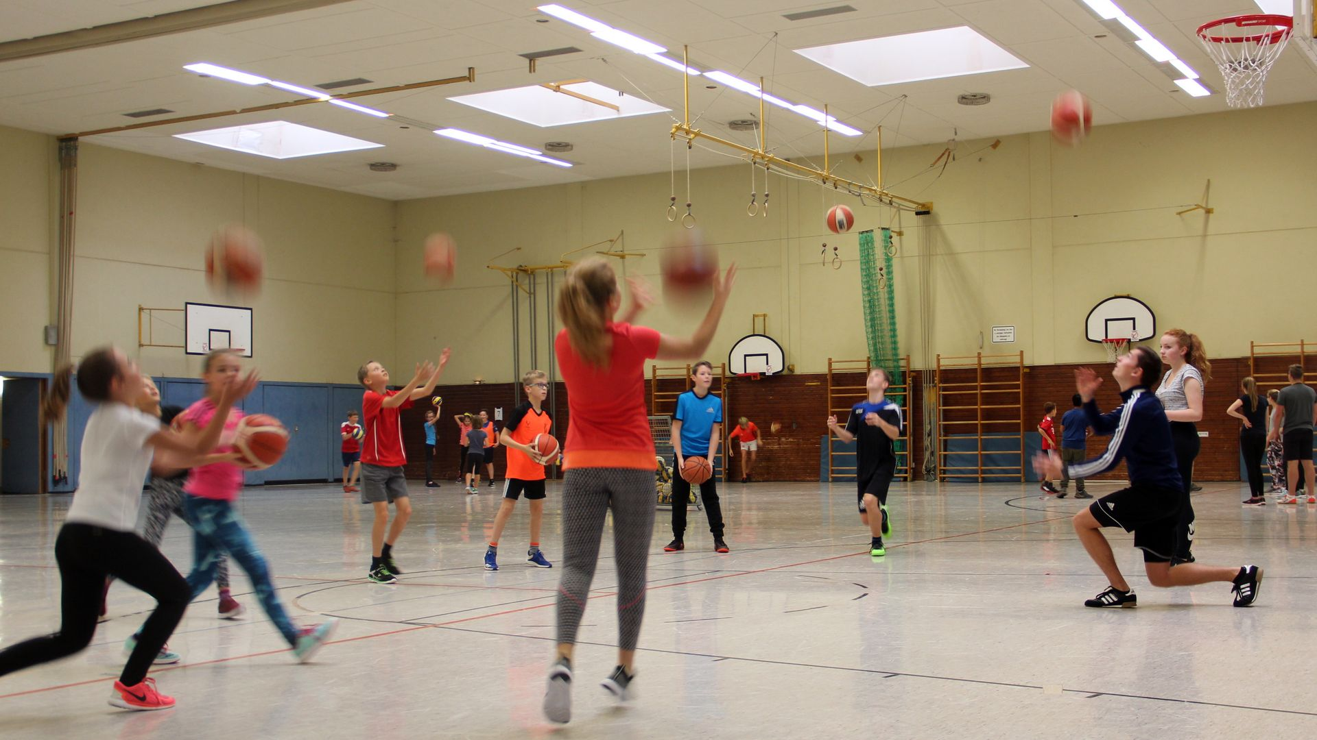 Basketball-Aktionstag 2018 - Schülerinnen in Aktion