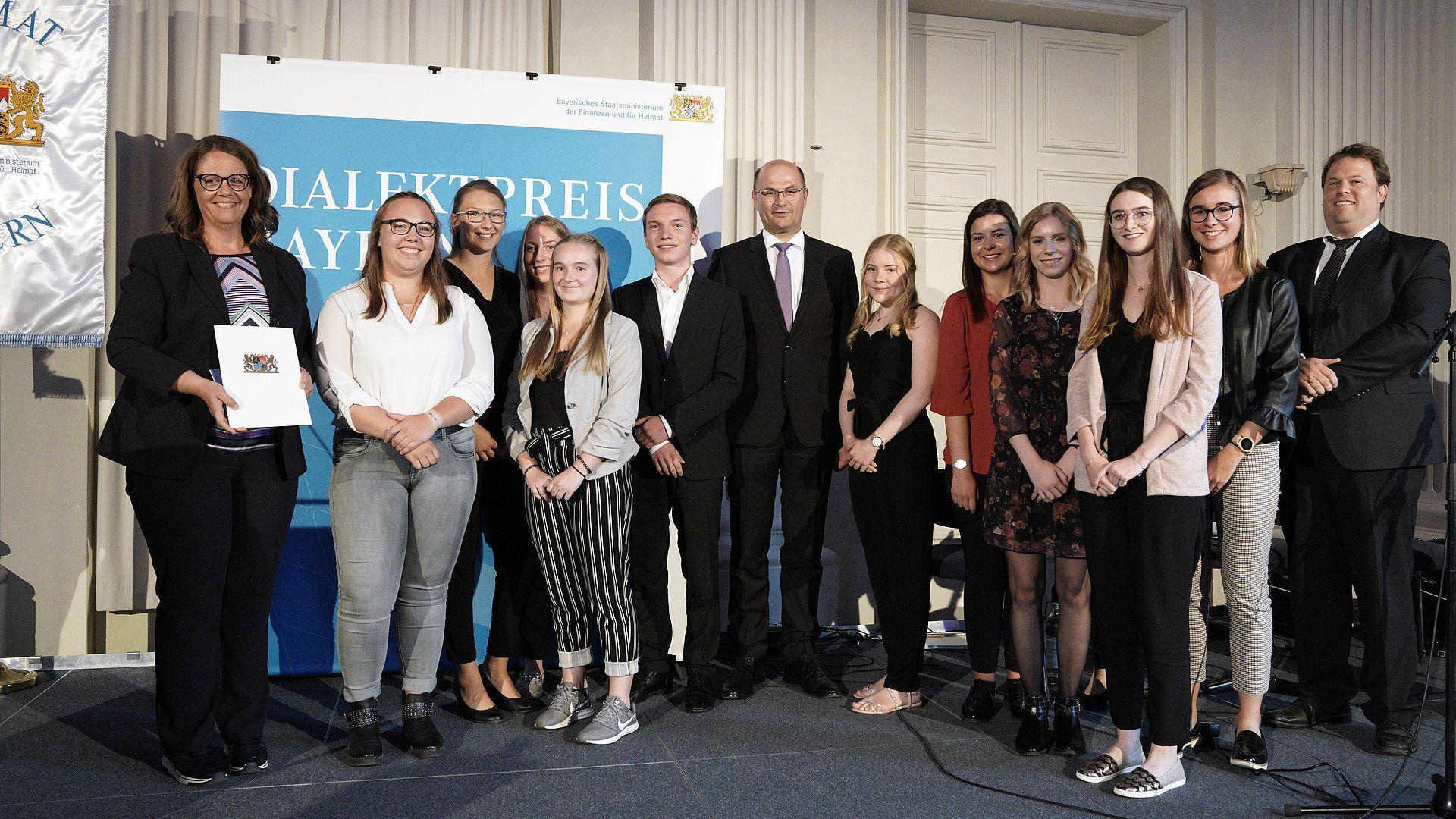 Bayerischer Dialektpreis 2019 Stiftland Gymnasium Tirschenreuth